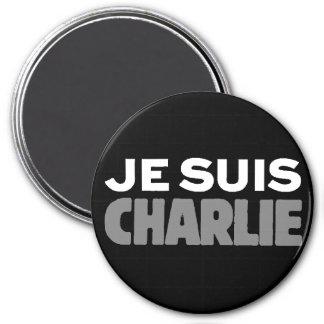 Aimant Je Suis Charlie - je suis noir de Charlie
