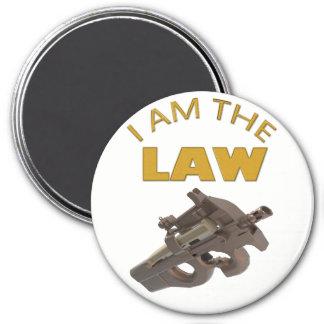 Aimant Je suis la loi avec une mitrailleuse m4a1