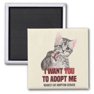 Aimant Je veux que Yout m'adopte au service d'adoption de