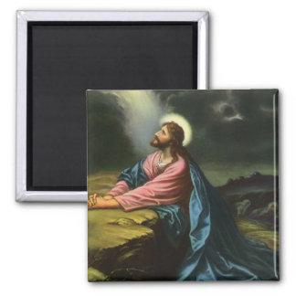 Aimant Jésus-Christ vintage priant dans Gethsemane