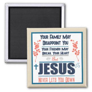 Aimant Jésus ne vous laisse vers le bas jamais ajuster