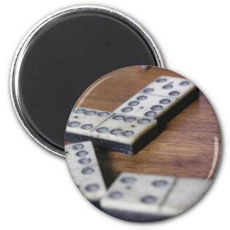 Aimant Jeu vintage en bois de dominos de domino de