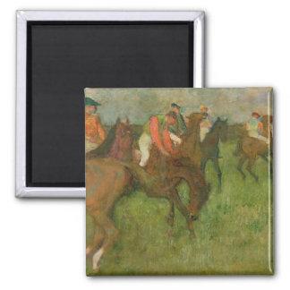 Aimant Jockeys d'Edgar Degas |, 1886-90