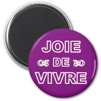 """Aimant Joie française de """"joie de vivre"""" d'expression de"""