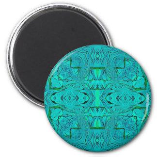 Aimant Joli motif tribal bleu vert au néon