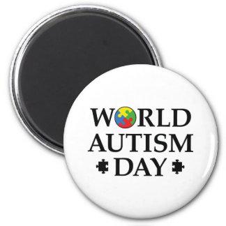 Aimant Jour d'autisme du monde