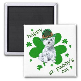 Aimant Jour de la Saint Patrick de Westie