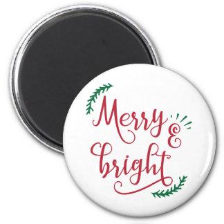 Aimant joyeuses et lumineuses vacances de Noël