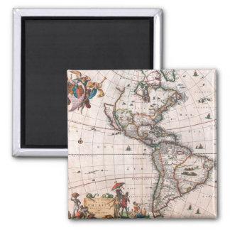 Aimant La carte de Visscher du nouveau monde