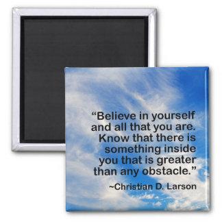 Aimant La citation de motivation | de mots croient en