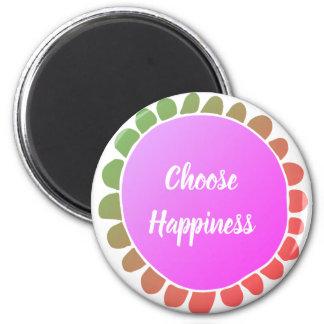 Aimant La citation inspirée choisissent le bonheur