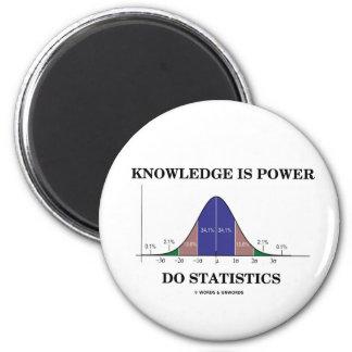 Aimant La connaissance est puissance font des