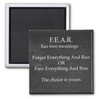 Aimant La crainte a l'aimant de deux significations