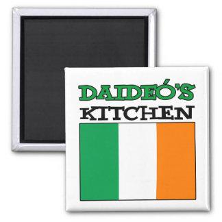Aimant La cuisine de Daideo avec le drapeau de l'Irlande