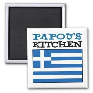 Aimant La cuisine de Papou avec le drapeau de la Grèce