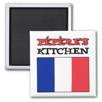 Aimant La cuisine de Pepere avec le drapeau de la France