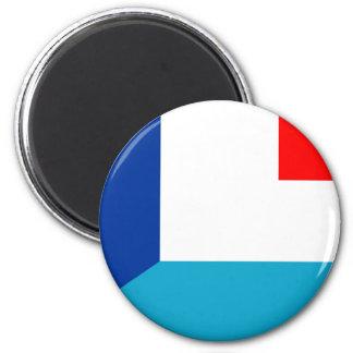 Aimant la France Luxembourg marquent demi de symbole de