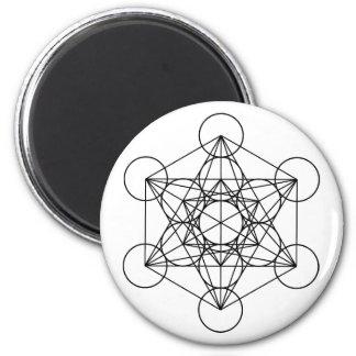 Aimant La géométrie sacrée de cube en Metatron