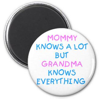 Aimant La grand-maman sait tout cadeau du jour de mère de