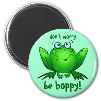 Aimant La grenouille verte ne s'inquiètent pas soit Aqua