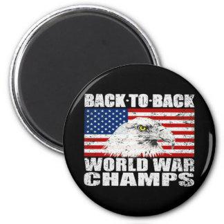 Aimant La guerre mondiale affligée des États-Unis mâche