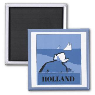 Aimant La HOLLANDE, Néerlandais bleu, texte de changement
