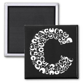 Aimant La lettre C d'alphabet