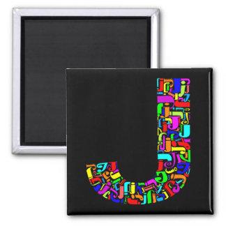 Aimant La lettre J d'alphabet