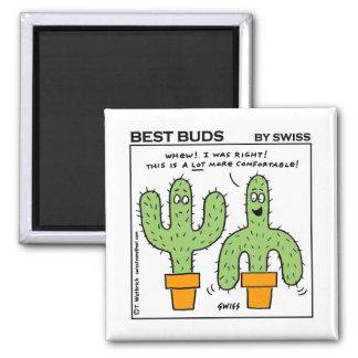 Aimant La meilleure bande dessinée de bourgeons de cactus