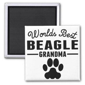 Aimant La meilleure grand-maman du beagle du monde