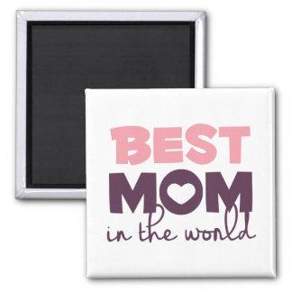 Aimant La meilleure maman dans l'aimant du jour de mère