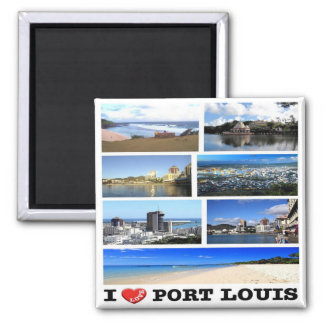 Aimant La MU - Les Îles Maurice - amour d'I - mosaïque de