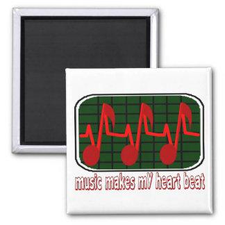 Aimant La musique fait mon battement de coeur