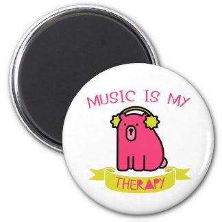 Aimant La musique mignonne d'ours est mon réfrigérateur