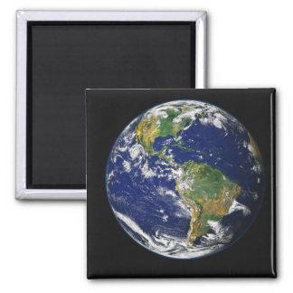 Aimant La pleine terre montrant l'hémisphère de l'ouest