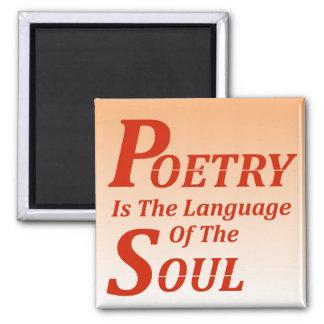 Aimant La poésie est la langue de l'âme : Version 2