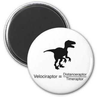 Aimant la science drôle de velociraptor