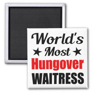 Aimant La serveuse la plus hungover du monde drôle
