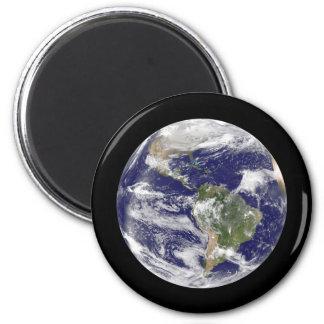 Aimant La terre de planète en globe photographique