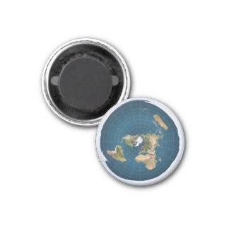 Aimant La terre plate EA azimutaux tracent autour de