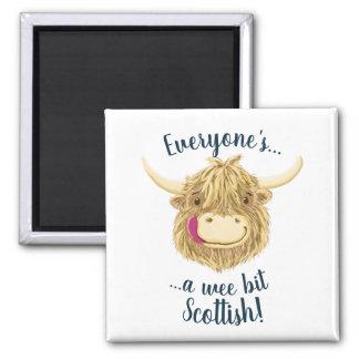 Aimant La vache des montagnes petite à Hamish indique