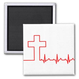 Aimant La vie croisée ECG ECG de battement de coeur de