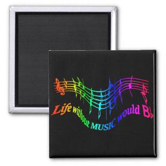"""Aimant La vie sans musique citation plate d'humour de """"B"""""""