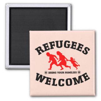 Aimant L'accueil de réfugiés amènent vos familles