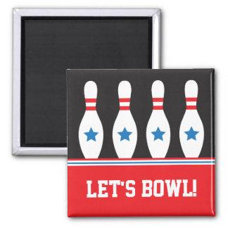 Aimant Laisse des goupilles de bowling de cuvette avec
