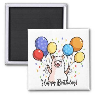 Aimant Lama de joyeux anniversaire