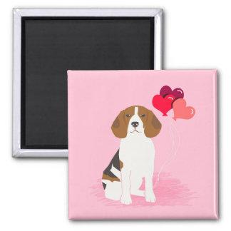 Aimant L'amour de beagle monte en ballon l'aimant