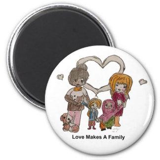 Aimant L'amour fait une famille par Ainsley--Aimant
