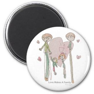 Aimant L'amour fait une famille par Annika--Magnet