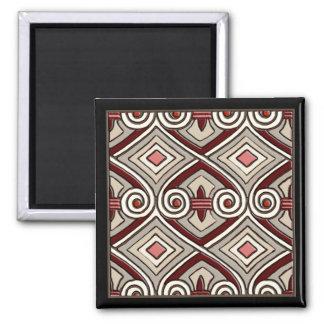 Aimant L'art déco fait Perse (Tan, corail, gris et rouge